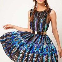 Holographic Sequin Dress