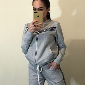 Gray TOMMY HILFIGER Sports Pants Two Pieces