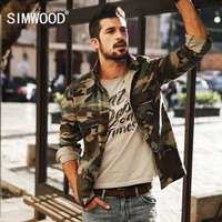 SIMWOOD 2017 New Arrival Spring Casual Camouflage Shirts  Long Sleeve Men Slim Fit CS1578