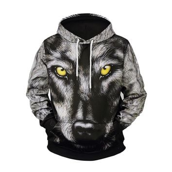 Tribe Of Benjamin Wolf Style Men's Fashion 3D hoodie
