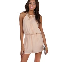 Natural Soft Pleats Romper