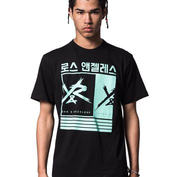 Barred Out Tee - Black/Ice Green