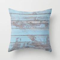 Wood wall Throw Pillow by Cafelab