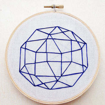 Geometric Sphere Line Hand Embroidery Hoop Art Hoop Home Decor Geometric Wall Art Geometric Embroidery Shape Embroidery Line Embroidery