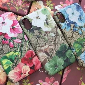 GUCCI Fashion Print iPhone Phone Cover Case For iPhone X-4