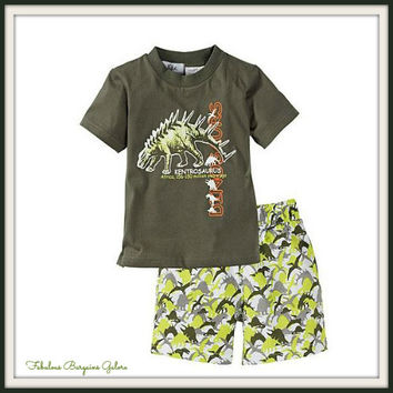 Boys 2pc Dinosaur Summer Outfit