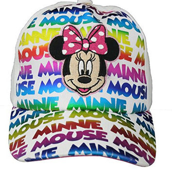 Disney Minnie Mouse Girls Bowtique White Baseball Cap [2013]