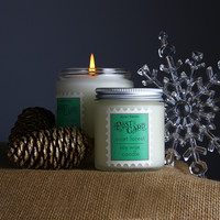 Quiet Forest Post Card Soy Candle. Cranberries and Woods. Melodie Perfumes.