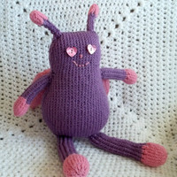 Girl Bug - Purple and Pink - Knitted Toy