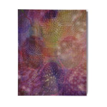 "No ""Jellyfish Ballet"" purple, lavender, digital Birchwood Wall Art"