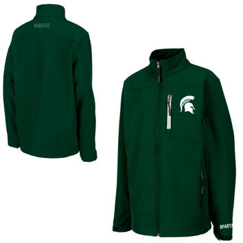 Michigan State Spartans Youth Yukon Full Zip Jacket - Green - http://www.shareasale.com/m-pr.cfm?merchantID=7124&userID=1042934&productID=525380920 / Michigan State Spartans