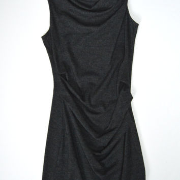Helmut Lang Grey Wool Dress