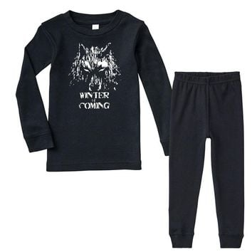 game of thrones direwolf winter is coming Infant long sleeve pajama set