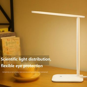 42 LED Desk Read Lamp Office Table Eye Protection Light USB Powered Study lamp Foldable Stepless Dimmable Touch Sensor Control