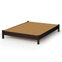 Queen size Modern Platform Bed Frame in Chocolate Finish