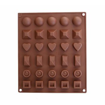 30-Cavity Silicone Mold for Making Homemade Chocolate, Candy, Gummy, Jelly, Ice Cube and More