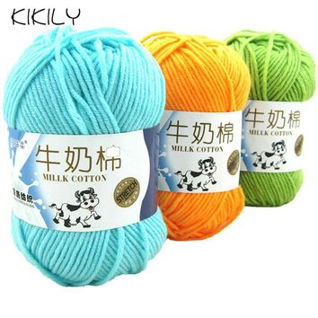 50g/ball High Quality Warm DIY Milk Cotton Yarn Baby Wool Yarn for Knitting Children Hand Knitted Yarn Knit Blanket Crochet Yarn