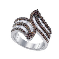 Diamond Fashion Ring in Sterling Silver 1.3 ctw