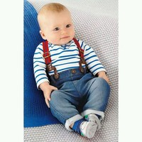 Baby Boys Sets Toddler  Set T-shirt Top+Jeans Bib Pants Overall Outfis Baby Clothing 2pcs of set