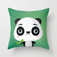 Panda Throw Pillow by Maria Jose Da Luz