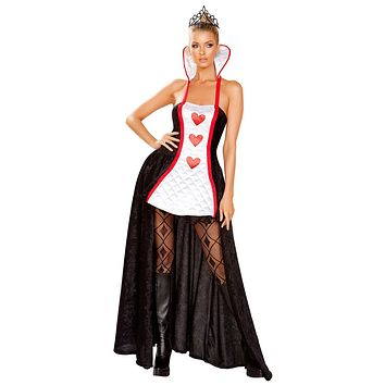 Sexy Queen of Hearts Maxi Dress Costume