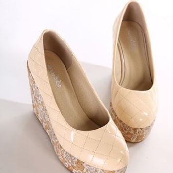 New arrival fashion printing wedges shoes