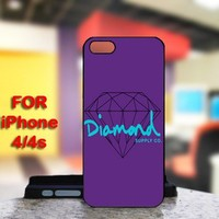 Diamond Supply For IPhone 4 or 4S Black Case Cover