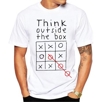 Think Out Side The Box. Tic-tac-toe T-shirt