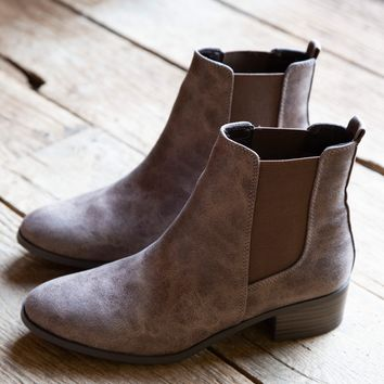 Repeat Distressed Bootie, Light Brown