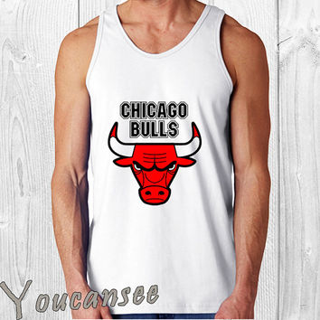 chicago bulls- men tank top ---print screen tank top for men, Awesome tank top for Man,Size S --- 3XL