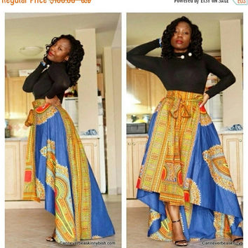 LABOUR DAY SALE New African print skirt, Roda  Danshiki  skirt, African skirts