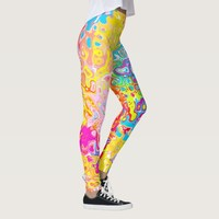 Colorful Rainbow Abstract Leggings