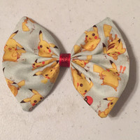 Pikachu Fabric Bow