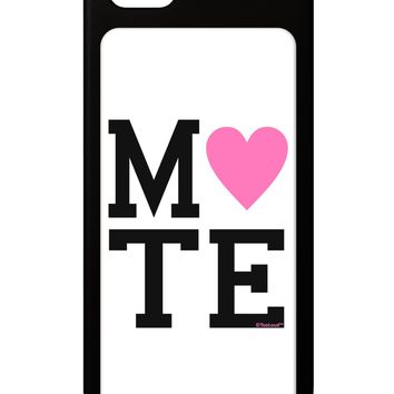 Matching Soulmate Design - Mate - Pink iPhone 5 / 5S Grip Case  by TooLoud