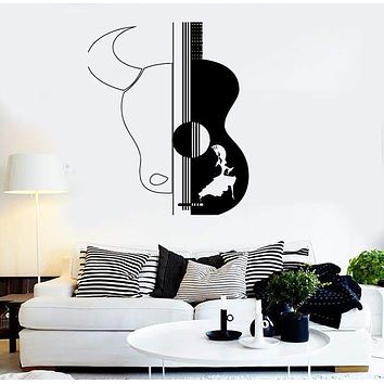 Wall Stickers Vinyl Decal Spain Spanish Dance Guitar Bull Decor  Unique Gift (z2381)