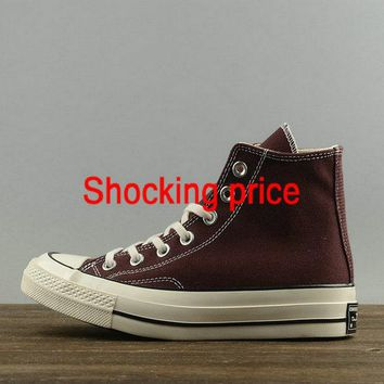 New Arrival Women Converse Chuck Taylor All Star 1970s High Burgundy White 146974C Authentic shoe