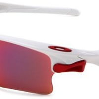 Oakley Men's Fast jacket XL Oval Polarized Sunglasses,OO Red Polarized/G40, One Size