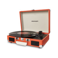 Portable Record Player in Orange