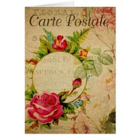 French Postcard Greeting Card