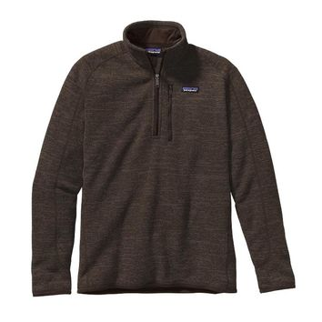 Patagonia Men's Better Sweater® Quarter Zip Fleece | Dark Walnut