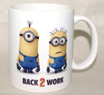 """Despicable Me 2 """"Back To Work"""" Coffee Mug Funny Promotional Souvenir From DVD Blu-Ray Movie"""