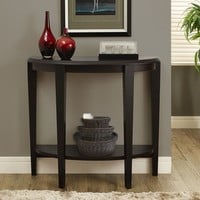 "Cappuccino 36""L Hall Console Accent Table"
