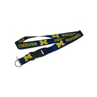 Amnico University of Michigan Navy Deluxe Lanyard