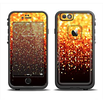 The Faded Gold Glimmer Apple iPhone 6 LifeProof Fre Case Skin Set