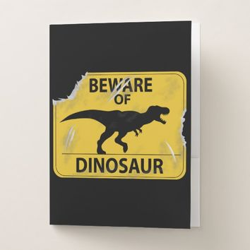 Beware of Dinosaur Pocket Folder