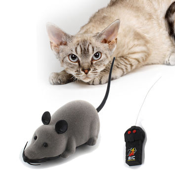 New Cat Toy Wireless Remote Control Mouse Electronic RC Rat Mice Toy Pet Cat Toy Mouse