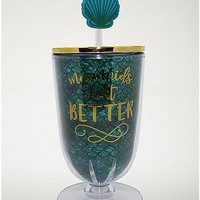 Mermaids Do It Better Cup with Straw - 16 oz. - Spencer's