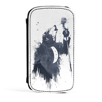Wolf Song 3 Premium Faux PU Leather Case Flip Case for Samsung Galaxy S3 by Balazs Solti