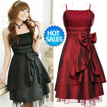 women's sexy night club cocktail party pinafore Chiffon halter Dress Color Red Rose Green Black Purple