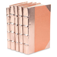 Metallic Patent Leather, Rose Gold, Set of 5, Decorative Books & Bindings